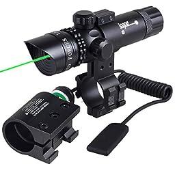 Sunvp Tactical Green Laser Dot Gun Sight Scope With 2 Mounts for Pistol Suit For Handgun Air Gun Rifle