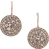 Fossil Glitz Disc Earring (Rose Gold)