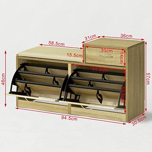 Ofertas sobuy armario zapatero taburete puff caja banco for Armario zapatero amazon