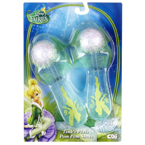Disney Fairies Secret of the Wings Tink's Pixie Pom Pom Shoes