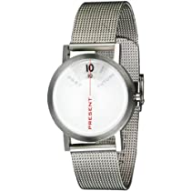 Projects Past Present Future Unisex Watch 33mm Stainless Steel Mesh Band