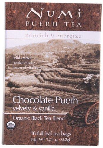Numi Chocolate Pu-Erh Tea, 16 Count (Pack Of 6)