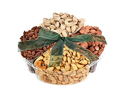 The Nutsnacker Delicious Roasted Healthy Nuts Gift Box Basket Tray (1 Lb)