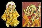 DollsofIndia Radha Krishna and Bhagawati - Set of Two - 3 x 2 inches Each