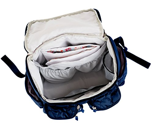 wallaroo diaper bag backpack stroller straps changing pad for women men blue. Black Bedroom Furniture Sets. Home Design Ideas