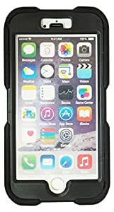 Exian Multifunctional Cell Phone Carrying Case for iPhone 6 - Retail Packaging - Black