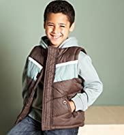 2-in-1 Long Sleeve Hooded Sweatshirt & Gilet Set