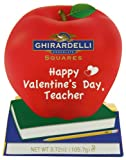 Ghirardelli Valentines Chocolate Squares, Teachers Apple Gift, 3.72-Ounce Apple Gift Box