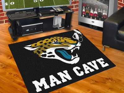 "Jacksonville Jaguars Man Cave All-Star Rug 34""x45"" - FAN-14316"