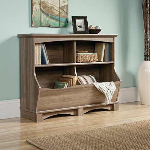 Best Review Of Sauder Harbor View Bin Bookcase, Salt Oak Finish