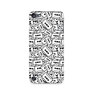High Quality Printed Cover Case for Apple IPOD TOUCH 6 Model - Casette Cluster