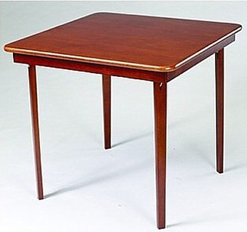 Folding Table with Straight Edges-Wooden Card Table (Chairs Sold Separately)#9802