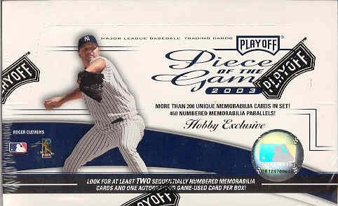 2003 Playoff Piece of the Game Baseball Hobby Box