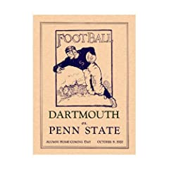 1920 Penn State Nittany Lions vs Dartmouth Big Green 36x48 Canvas Historic Football...