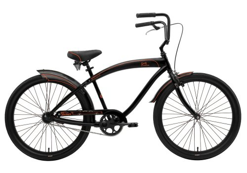 Nirve George Barris Cruisin' USA Batt Cruiser Men's Cruiser Bike (26-Inch Wheels, Matte Black)
