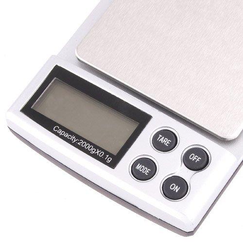 TOOGOO(R) 2000g/0.1g Ecran LCD Balance Electronique Numerique de Poche