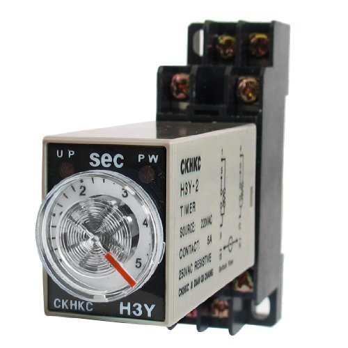 water-wood-h3y-2-220vac-dpdt-5-seconds-5s-8p-terminals-delay-timer-time-relay-w-base