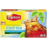 Lipton Iced Tea, Decaffeinated Family Size 10.5 oz, 48 ct (Pack of 3)