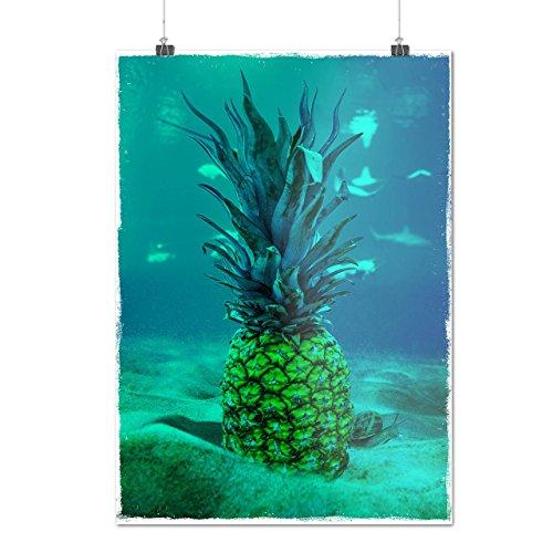 Sous-marin Ananas Mer Fruit Matte/Glacé Affiche A0 (119cm x 84cm) | Wellcoda