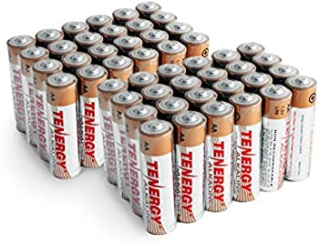 48-Pack Tenergy AA Alkaline Batteries