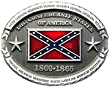 Confederate States Of America Rebel Flag Southern Pride Belt Buckle WT-094