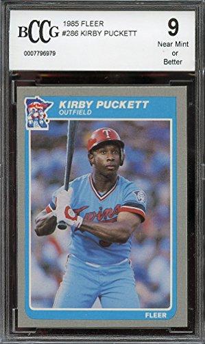 1985 fleer #286 KIRBY PUCKETT minnesota twins rookie card BGS BCCG 9 Graded Card (Minnesota Twins Kirby Puckett compare prices)
