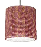 Schonbek MC1616MP Silver / Misty Pink Strass Geometrix--Matrix Crystal Eight Light Down Lighting Tal