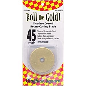 Euro-Notions Roll The Gold! 45mm Titanium Coated Rotary Cutting Blade -10 per Package