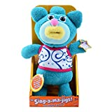 The Sing a ma jigs! Singing soft toy - blue with white T-shirt