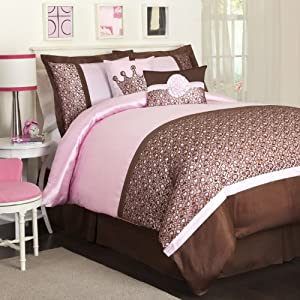 Triangle Home Fashions Leopard Pink Juvy Comforter Set
