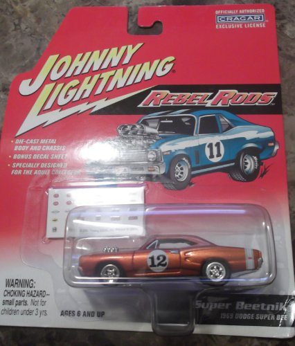 Johnny Lightning 1:64 Super Beetnik 1969 Dodge Super Bee Rebel Rods