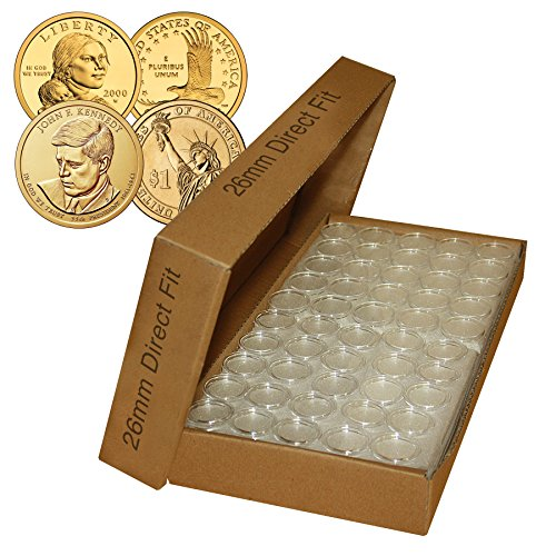 1000-Direct-Fit-Airtight-26mm-Coin-Holder-Capsules-For-PRESIDENTIAL-1SACAGAWEA