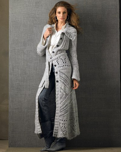 Buy Ankle-length sweater-coat