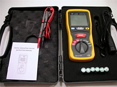 Ruby Electronics DT-5500 Digital Insulation Tester MegOhmMeter CAT III 1000V, 2000 Mega Ohm Meter