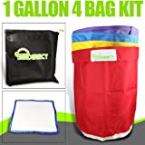 Bubble Hash Bags Ice Extractor 1 Gallon 4 Bag + micron