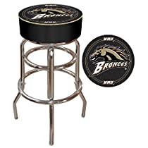 Western Michigan University Padded Bar Stool - Game Room Products Pub Stool NCAA - Colleges