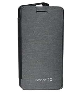 PGS Premium Black Flip Cover For Huwai honor 4C