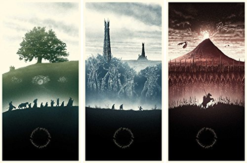 The Lord of the Rings 1 2 3 poster 36 inch x 24 inch / 20 inch x 13 inch