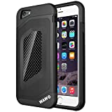 WAWO Iphone 6 PLUS Case - Full Protection Carbon Fiber Patch Case for Apple Iphone 6 PLUS 5.5 Inch (Black) by WAWO