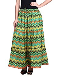 Prateek exports Beautiful Designer Multicolor Printed Long Skirt