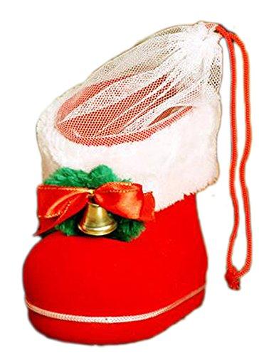 Scarpe Natale Bag stivali rossi - Candy scarpe di Natale ornamenti regalo creativo / Natale Gli extra sacchetto / caramella Scarpe stivali rossi,L