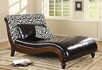 Big Sale Coaster Zebra Animal Print Chaise Lounge