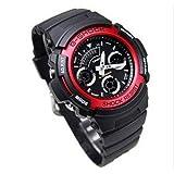 [カシオ]CASIO G-SHOCK(Gショック)腕時計 海外モデル デジアナウォッチ AW-591-4ADR レッド[逆輸入]