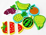 Wooden Magnetic Fruits Cutting Food / Wooden Food Jigsaw Puzzle Magnetic Fruits