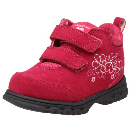 Step & Stride Toddler/Little Kid Blossom EZ Hiking Boot,Berry/ Silver,7 M US Toddler