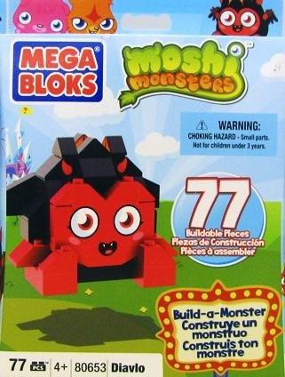 Moshi Monsters Mega Bloks Build a Monster Set #80653 Diavlo