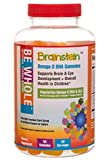 Brainstein: Children's Omega 3 DHA & ALA Vegetarian Gummies - 100% Plant-Based Omega 3's - Supports Brain & Eye Heath & Overall Growth & Development - Free of GMO's, High Fructose Corn Syrup & Gluten