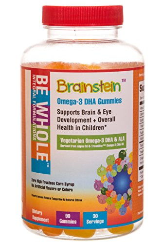 Brainstein: Children's Omega 3 DHA & ALA Vegetarian Gummies - 100% Plant-Based Omega 3's - Supports Brain & Eye Heath & Overall Growth & Development - Free of GMO's, High Fructose Corn Syrup & Gluten (Child Omega 3 compare prices)