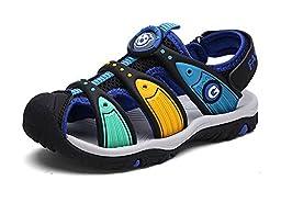 Ausom Boy\'s Girl\'s Summer Closed-Toe Strap Outdoor Water Sandal (Toddler/Little Kid/Big Kid)