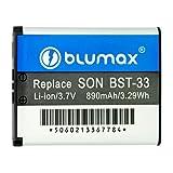 Blumax Li-Ion Battery for Sony Ericsson BST-33/BST-40/K800i/K550i/K630i/K660i/K810i/W880i (3.7 V 890mAh)